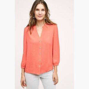 Anthro VANESSA VIRGINIA Romi Buttondown Blouse 4